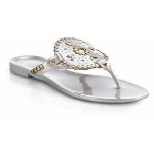 Jack Rogers Georgica Metallic Jelly Thong Sandals